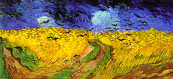 'Wheat Fields with Crows', Vincent Van Gogh